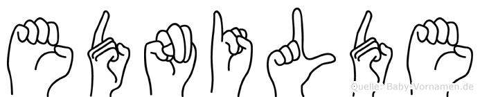 Ednilde im Fingeralphabet der Deutschen Gebärdensprache
