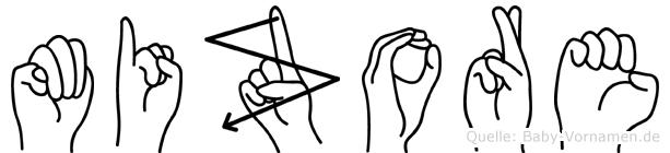 Mizore in Fingersprache für Gehörlose
