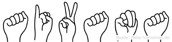 Aivana in Fingersprache für Gehörlose
