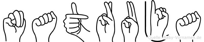 Natruja in Fingersprache für Gehörlose