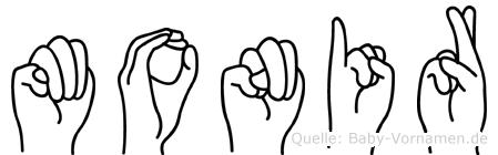 Monir in Fingersprache für Gehörlose
