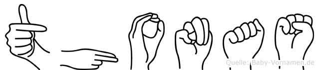 Thonas in Fingersprache für Gehörlose