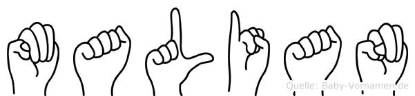 Malian in Fingersprache für Gehörlose