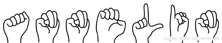 Annelin im Fingeralphabet der Deutschen Gebärdensprache