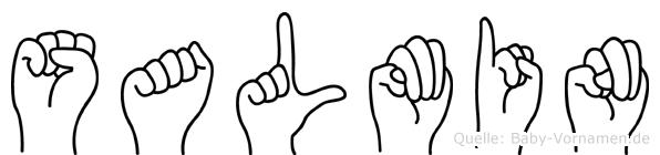Salmin im Fingeralphabet der Deutschen Gebärdensprache