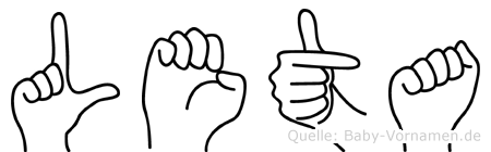 Leta in Fingersprache für Gehörlose