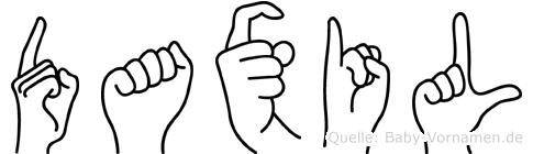 Daxil in Fingersprache für Gehörlose