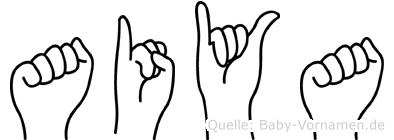 Aiya in Fingersprache für Gehörlose