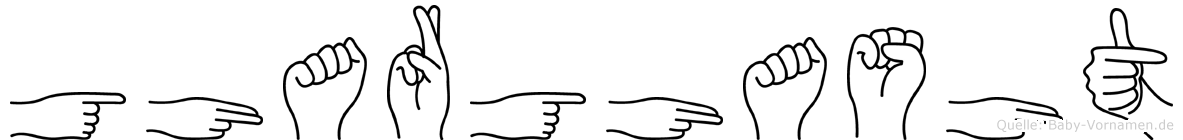 Gharghasht in Fingersprache für Gehörlose