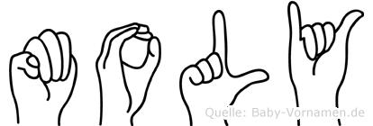 Moly in Fingersprache für Gehörlose