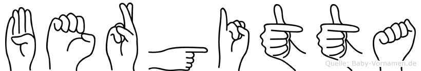 Bergitta in Fingersprache für Gehörlose