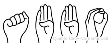Abbo in Fingersprache für Gehörlose