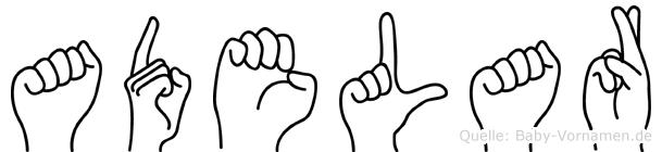 Adelar in Fingersprache für Gehörlose