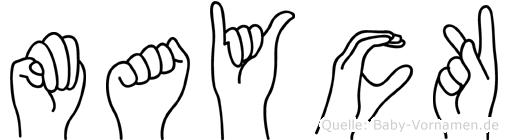 Mayck in Fingersprache für Gehörlose
