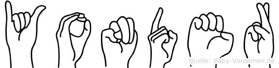 Yonder in Fingersprache für Gehörlose