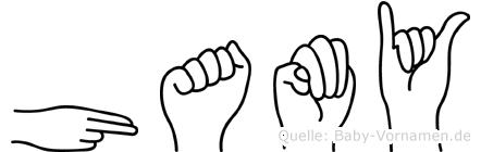 Hamy in Fingersprache für Gehörlose