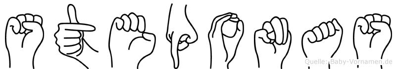 Steponas im Fingeralphabet der Deutschen Gebärdensprache