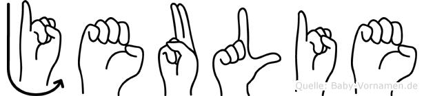 Jeulie in Fingersprache für Gehörlose