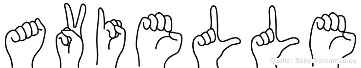 Avielle in Fingersprache für Gehörlose