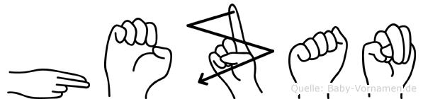 Hezan in Fingersprache für Gehörlose