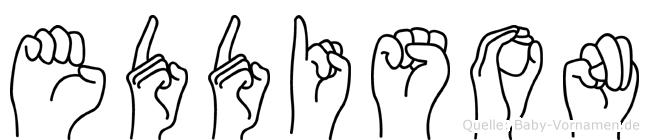 Eddison im Fingeralphabet der Deutschen Gebärdensprache