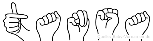 Tansa in Fingersprache für Gehörlose