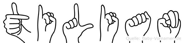 Tilian in Fingersprache für Gehörlose