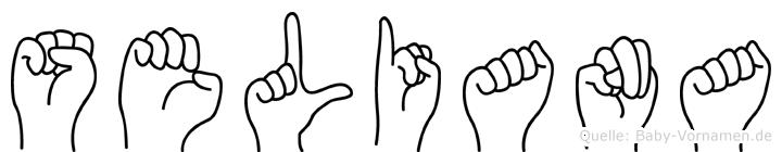 Seliana im Fingeralphabet der Deutschen Gebärdensprache
