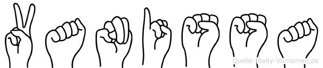 Vanissa in Fingersprache für Gehörlose