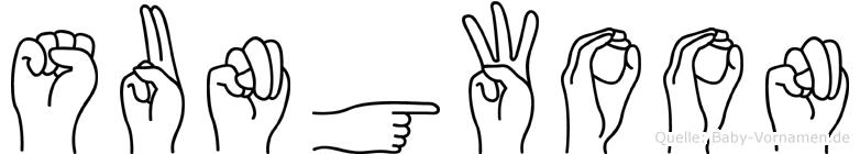 Sungwoon in Fingersprache für Gehörlose
