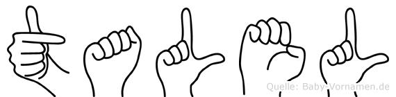 Talel in Fingersprache für Gehörlose