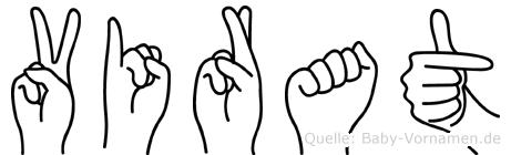 Virat in Fingersprache für Gehörlose