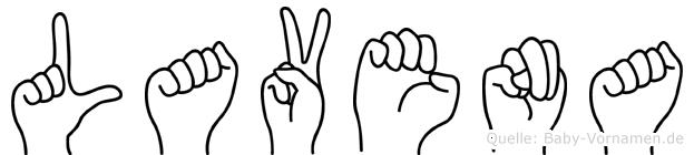 Lavena in Fingersprache für Gehörlose