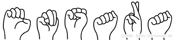 Ensara in Fingersprache für Gehörlose