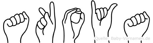 Akoya im Fingeralphabet der Deutschen Gebärdensprache
