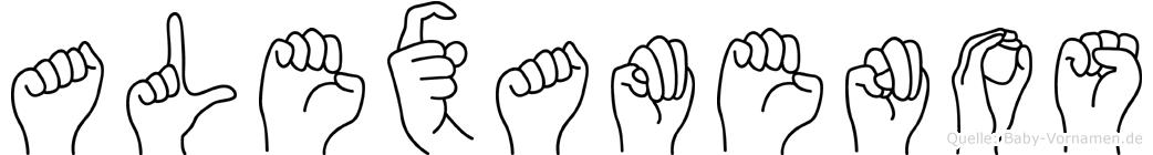 Alexamenos in Fingersprache für Gehörlose