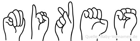 Mikes in Fingersprache für Gehörlose