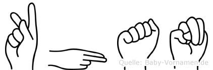 Khan in Fingersprache für Gehörlose