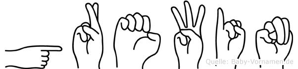 Grewin in Fingersprache für Gehörlose