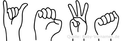 Yewa in Fingersprache für Gehörlose