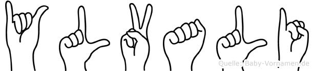 Ylvali in Fingersprache für Gehörlose