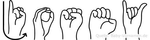 Josey in Fingersprache für Gehörlose