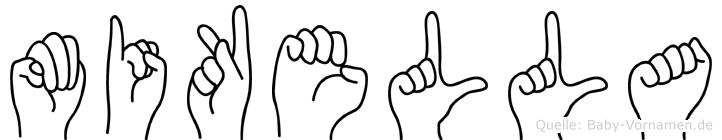 Mikella in Fingersprache für Gehörlose