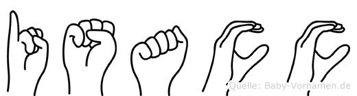 Isacc in Fingersprache für Gehörlose