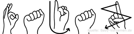 Fajaz in Fingersprache für Gehörlose