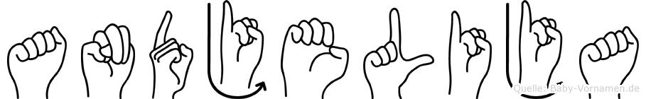 Andjelija in Fingersprache für Gehörlose