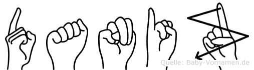 Daniz im Fingeralphabet der Deutschen Gebärdensprache