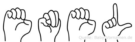 Enel in Fingersprache für Gehörlose