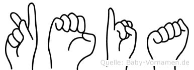 Keia in Fingersprache für Gehörlose