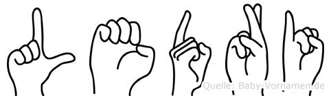 Ledri in Fingersprache für Gehörlose